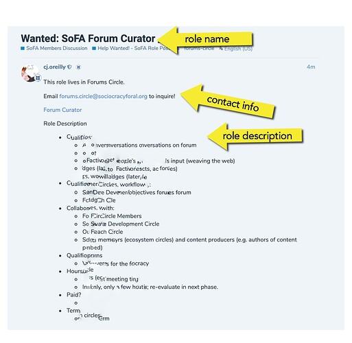 Forum instructions